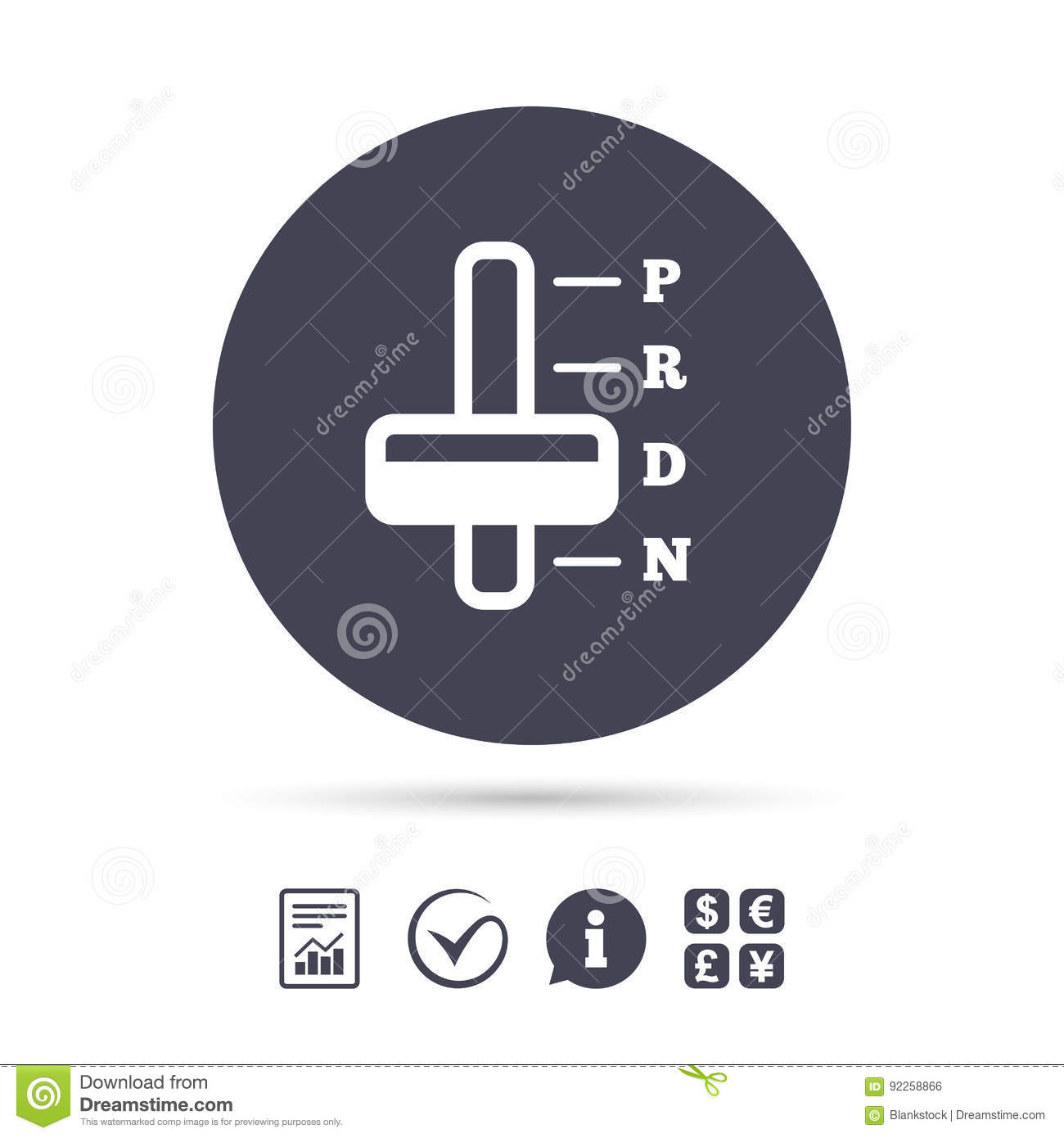Automatic Transmission Sign Icon Auto Control Stock Vector Illustration Of Document Label 92258866