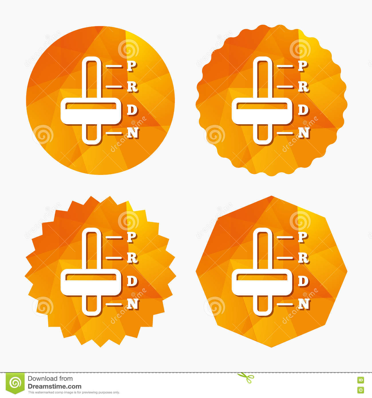 Automatic Transmission Sign Icon  Auto Control  Stock Vector