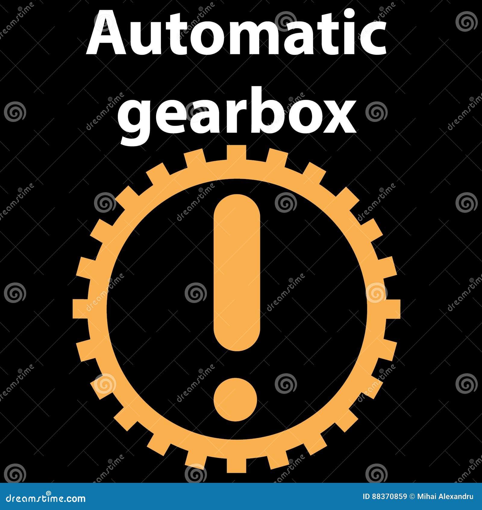 Automatic Transmission Sign Icon Vector Illustration Auto Car