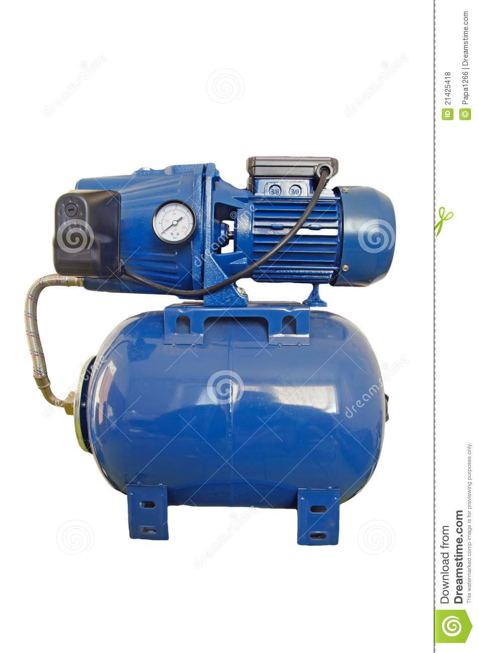 automatic water pump in the basement royalty free stock photos image