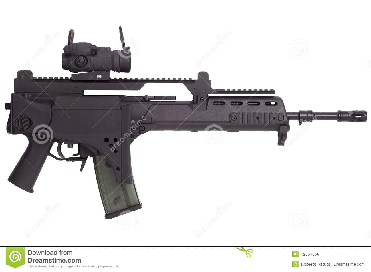 Automatic weapon G36 stock photo  Image of optical, object