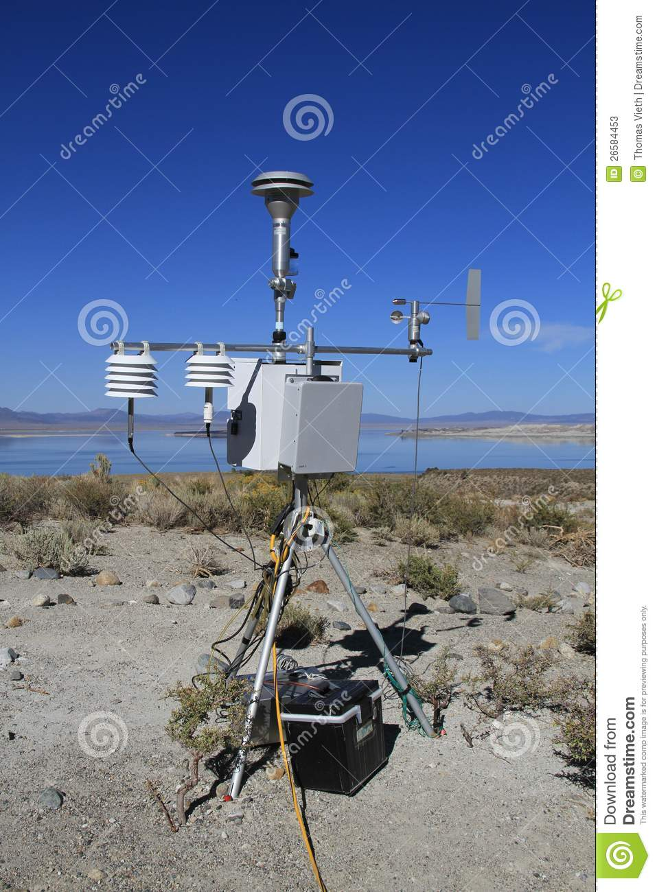 Usa california automatic weather station stock image - Que es una estacion meteorologica ...