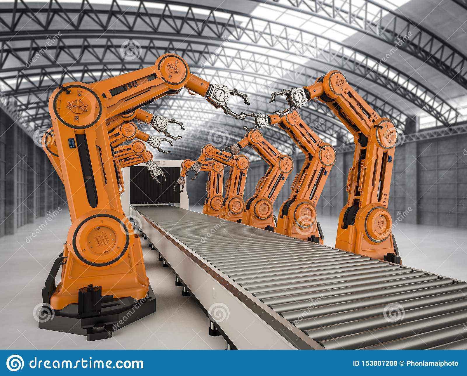 Automation Industry Concept Stock Illustration ...