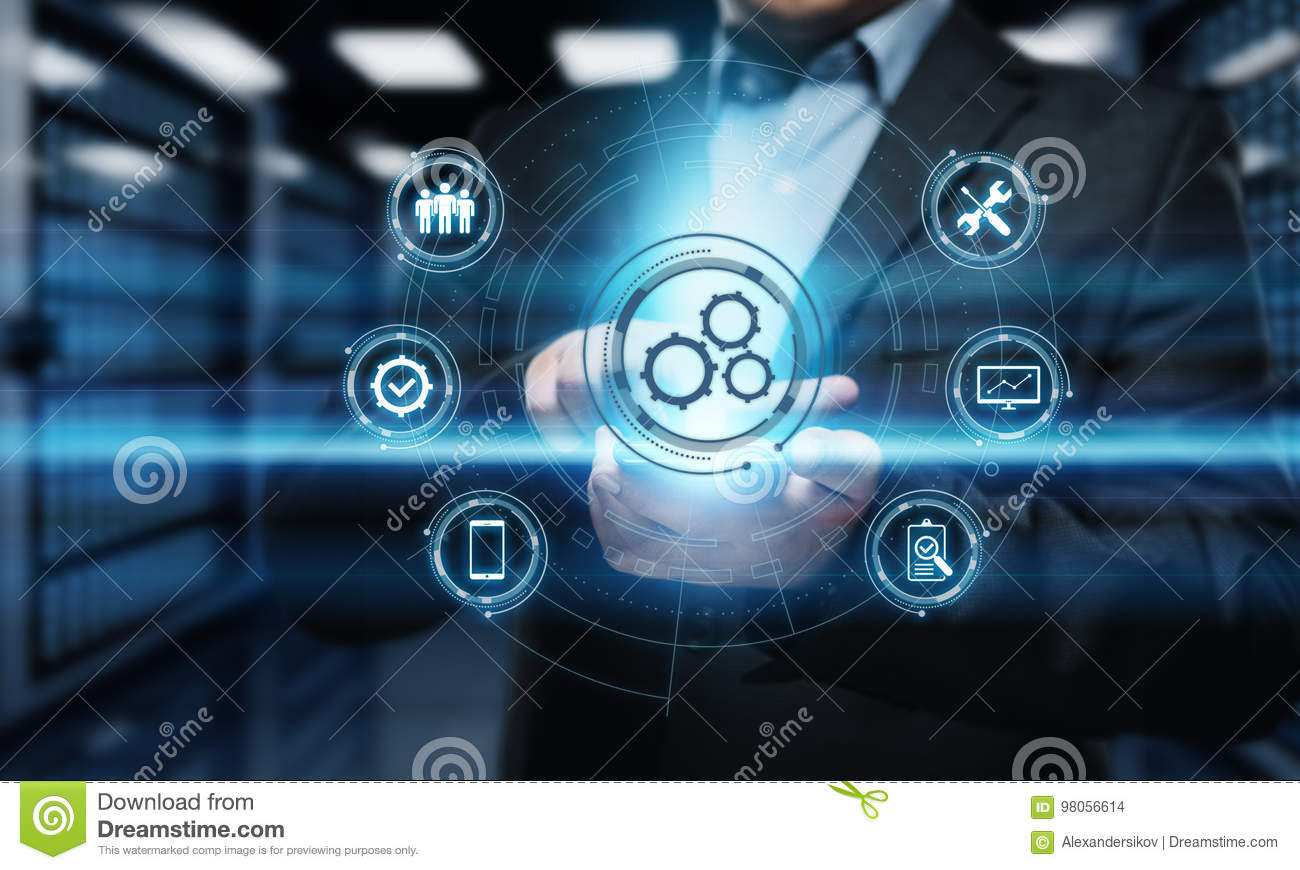 Download Automation Software Technology Process System Business Concept Stock Photo - Image of business, concept: 98056614
