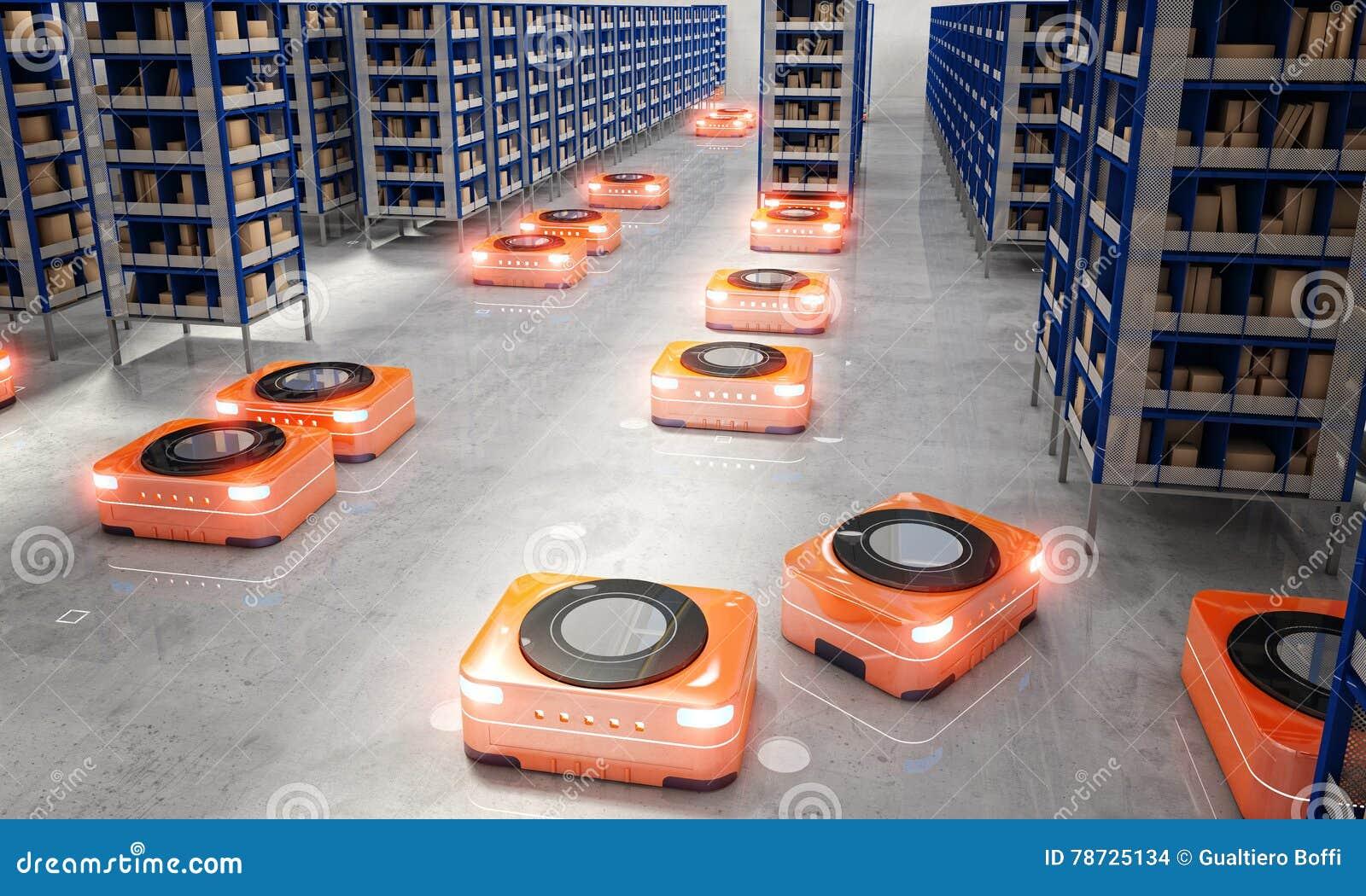 Automatiserat modernt lager