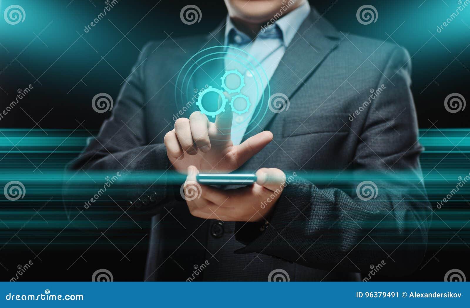 Automatisierungs-Software-Technologie-Prozess-System-Geschäftskonzept
