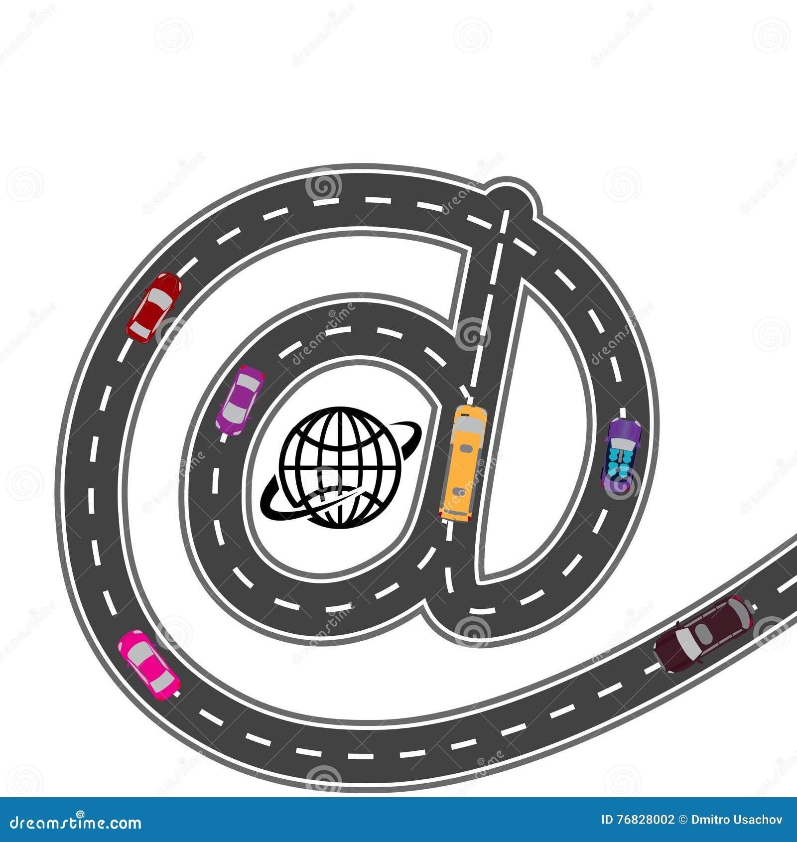 Automatisk utrustning Med internetnavigatören - banan är kortare Humoristiskt bild illustration