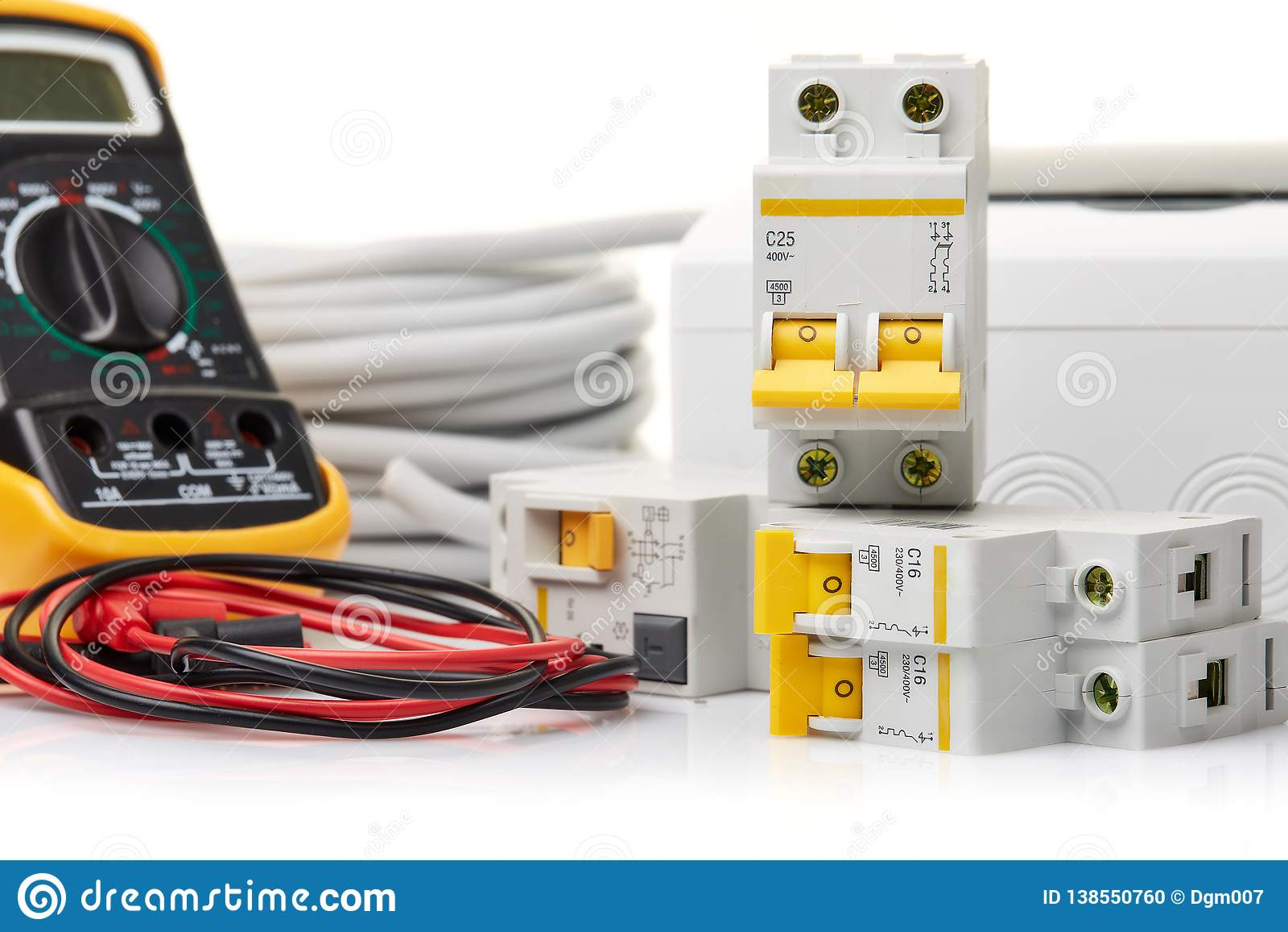 Automatiska strömkretssäkerhetsbrytare elektrisk utrustning