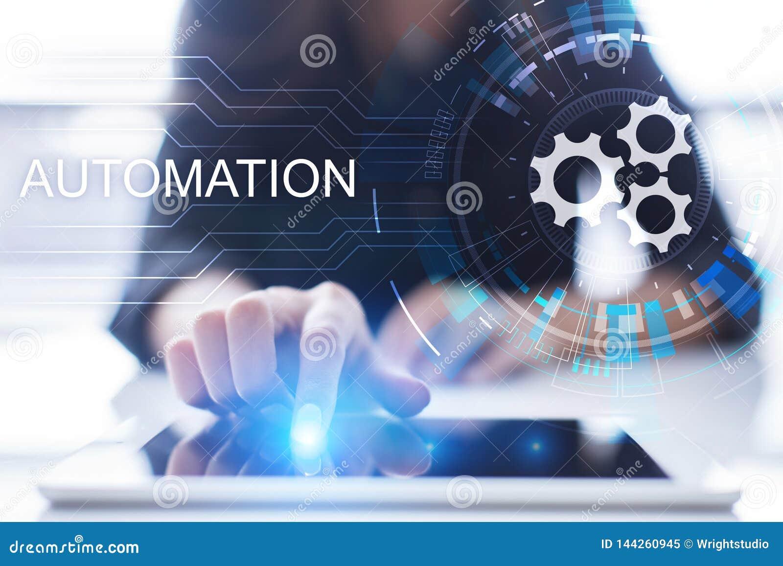 Automatiza??o do neg?cio e de processo de manufatura, ind?stria esperta, inova??o e conceito moderno da tecnologia