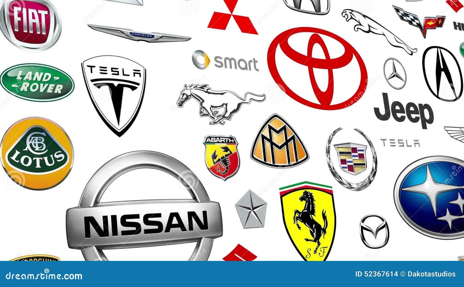Automerk Logo Loop Stock Footage Video Bestaande Uit Looping 52367614