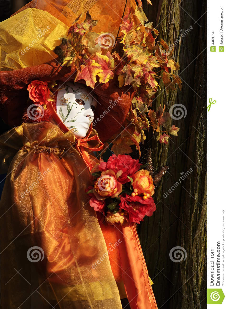 Download Automnal Venitian costumes stock photo. Image of female - 4469154