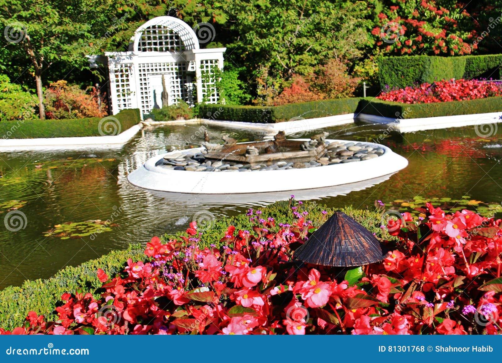 Automne fleur dans le jardin de butchart victoria le for Dans le jardin