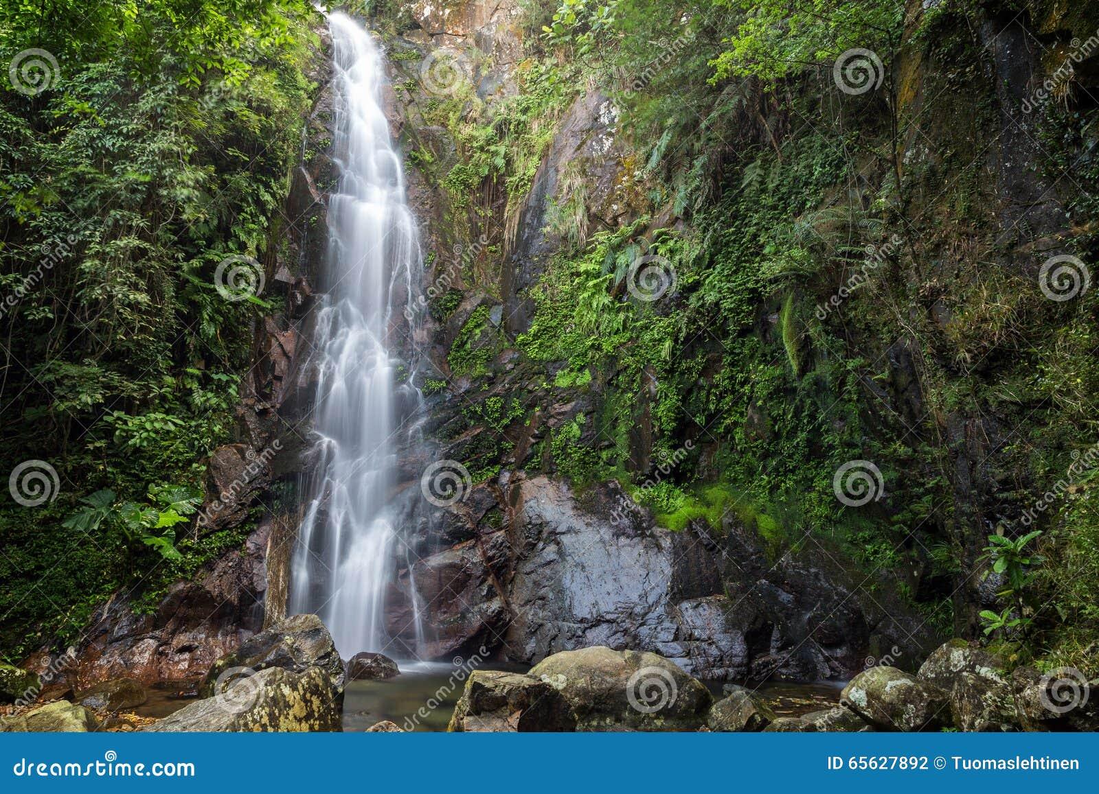 Automne moyen du NG Tung Chai Waterfalls en Hong Kong