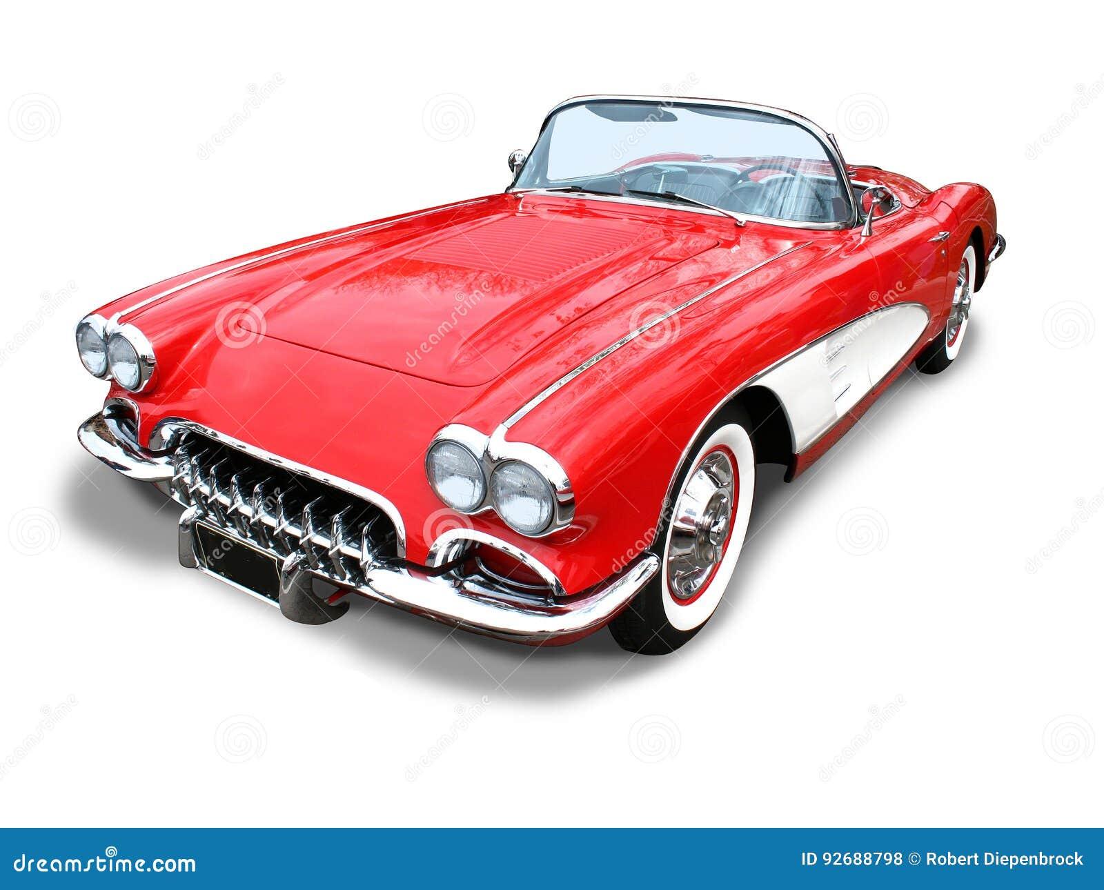 Automobilístico clássico dos esportes de Corveta isolado