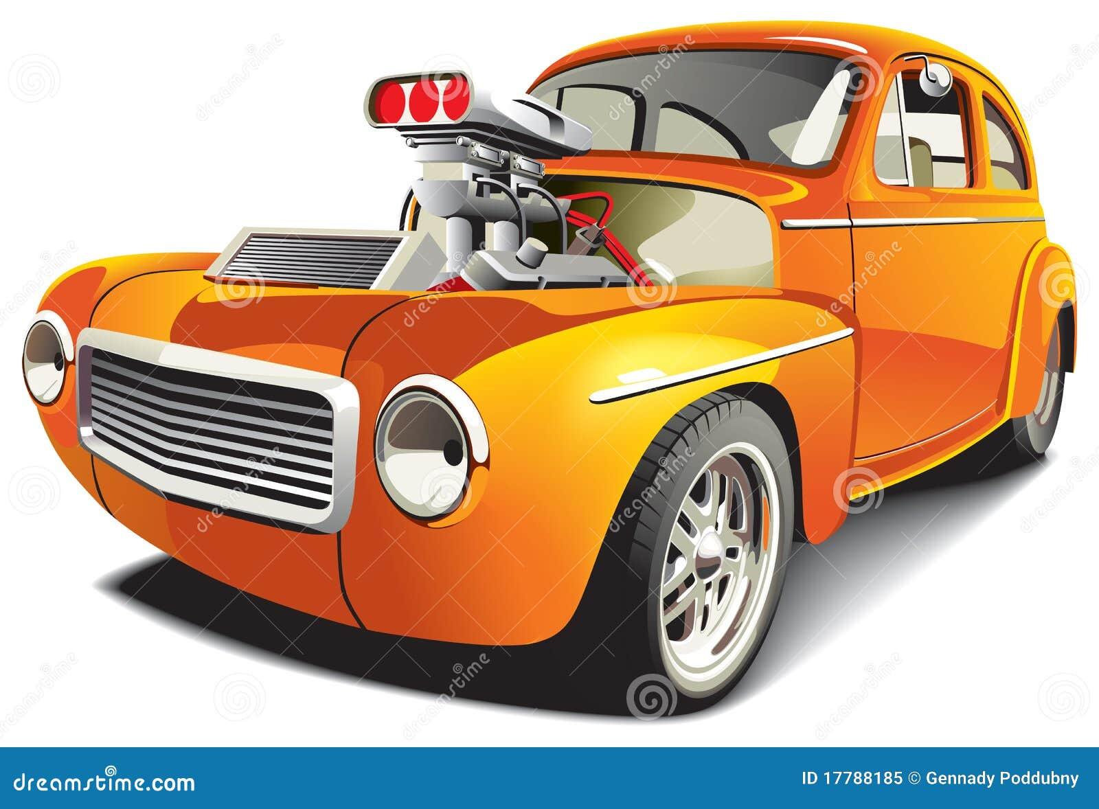 Automobile arancione di resistenza