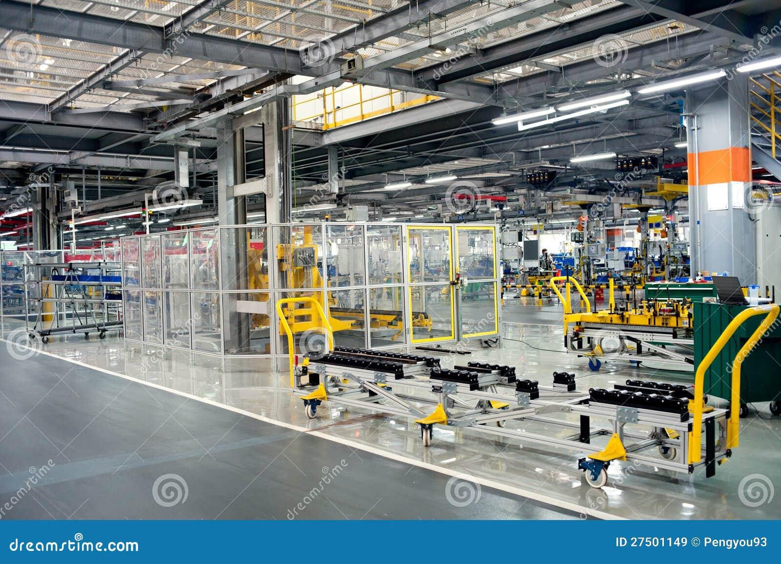 Automobile Assembly Shop Production Line Stock Image