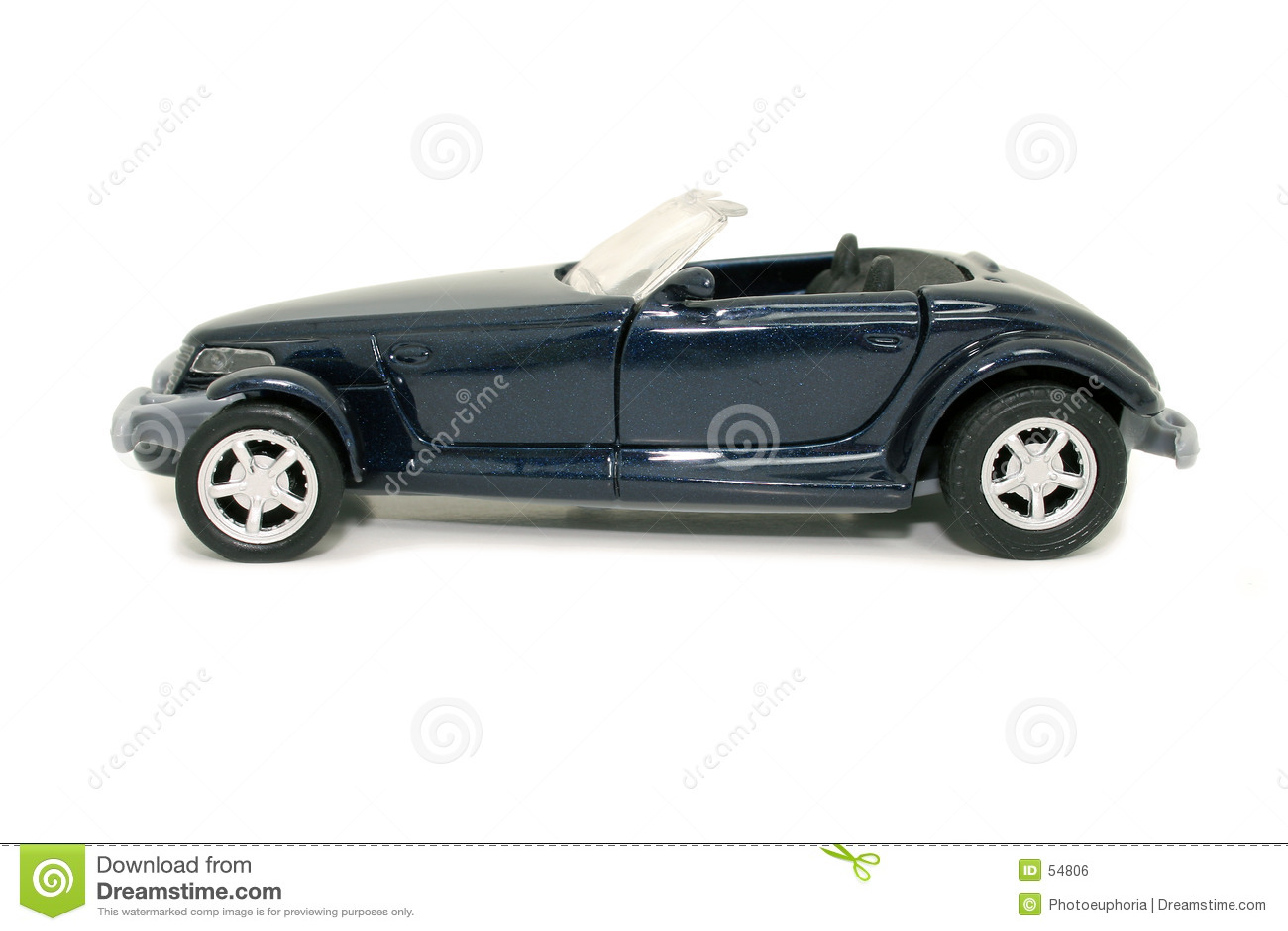Automobile blu del giocattolo (immagine 8.2mp)