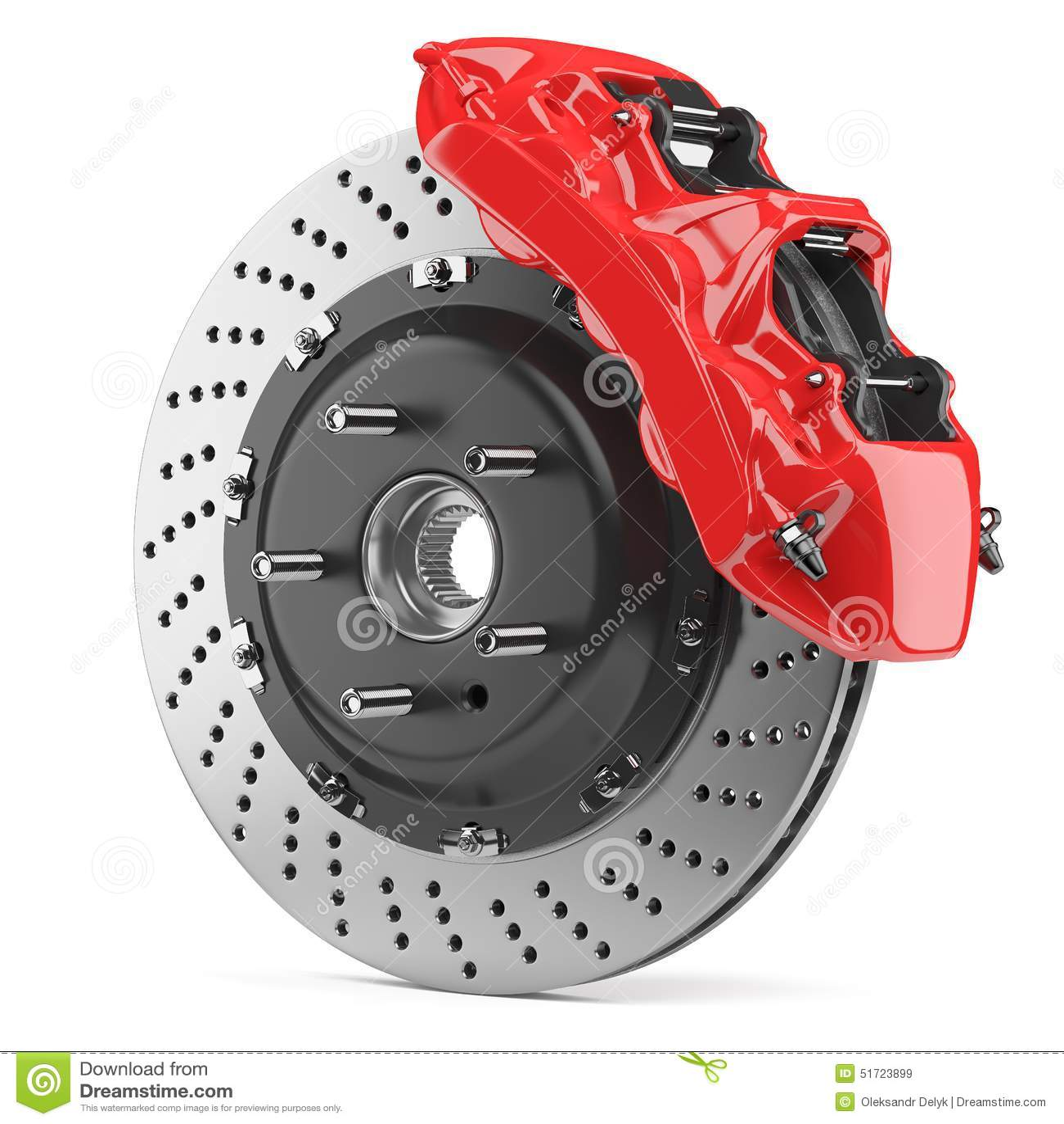 automobile brake disk and red caliper stock illustration illustration 51723899. Black Bedroom Furniture Sets. Home Design Ideas