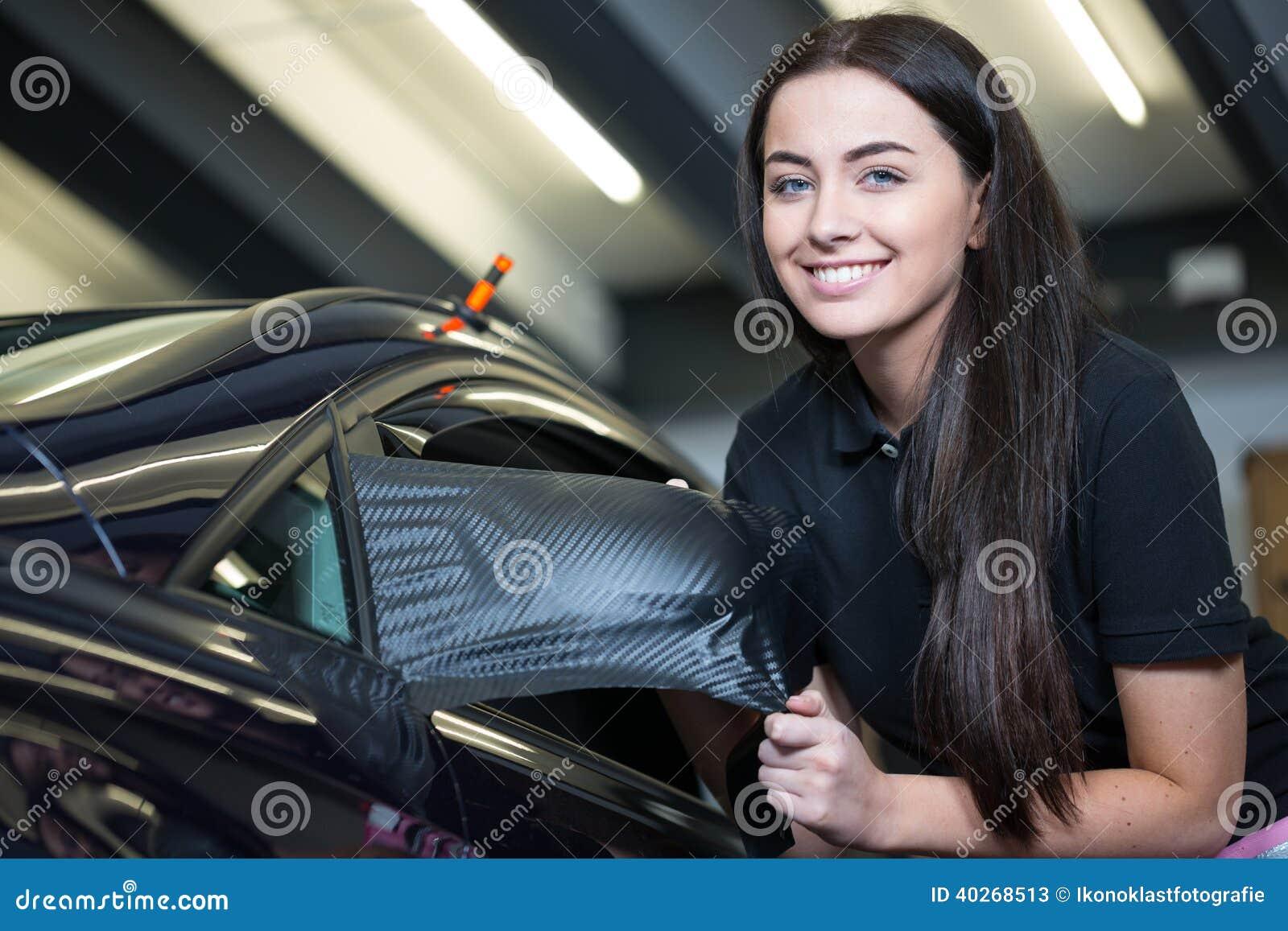 Automobile che avvolge specchio laterale di spostamento professionale con la stagnola del vinile