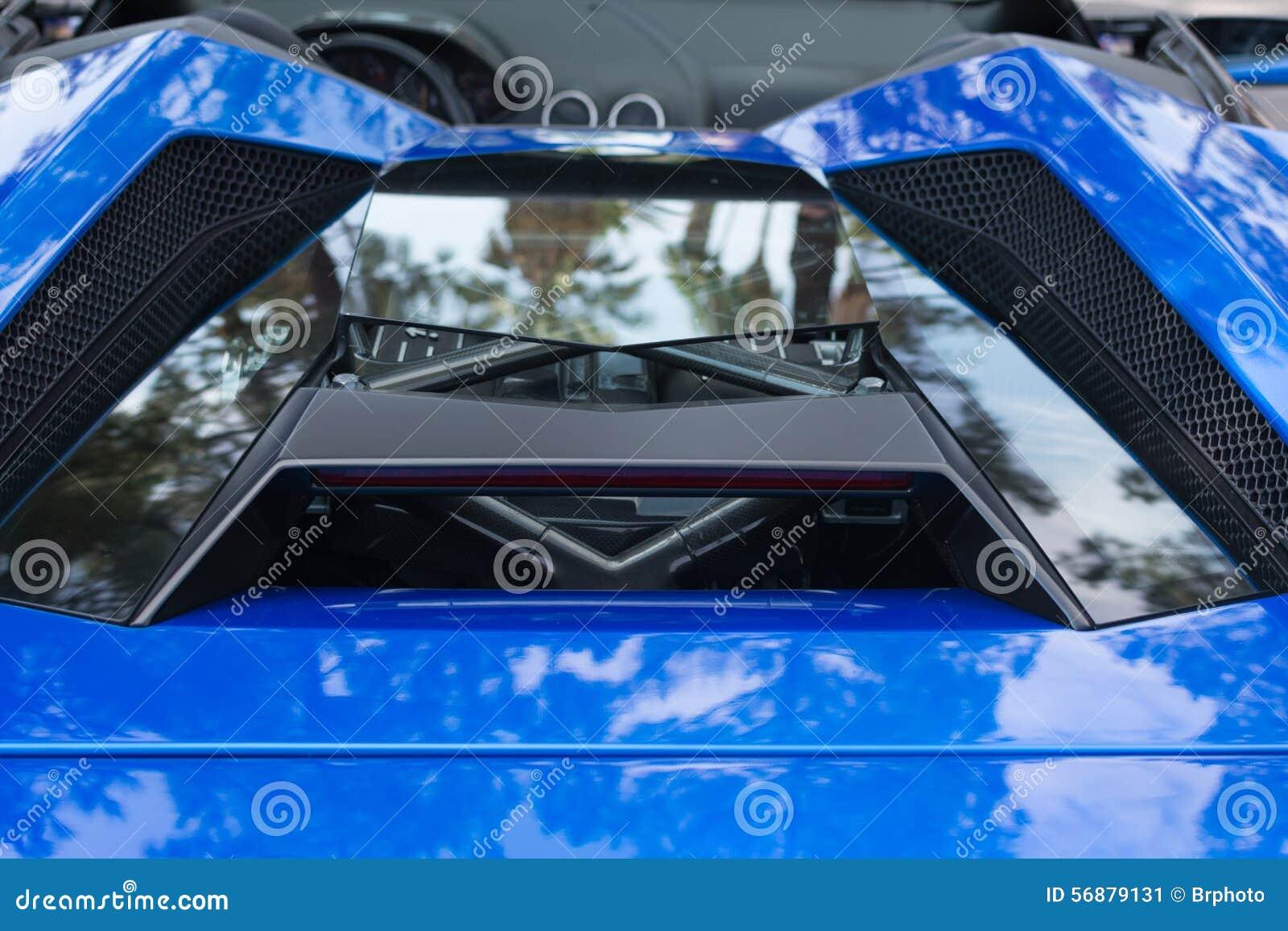 Automobile del dettaglio di Lamborghini su esposizione