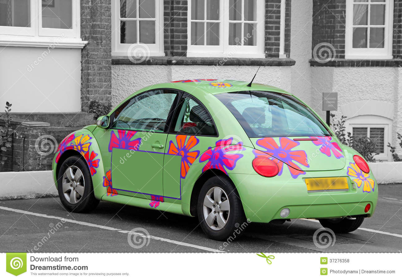 Automobile del hippy di flower power