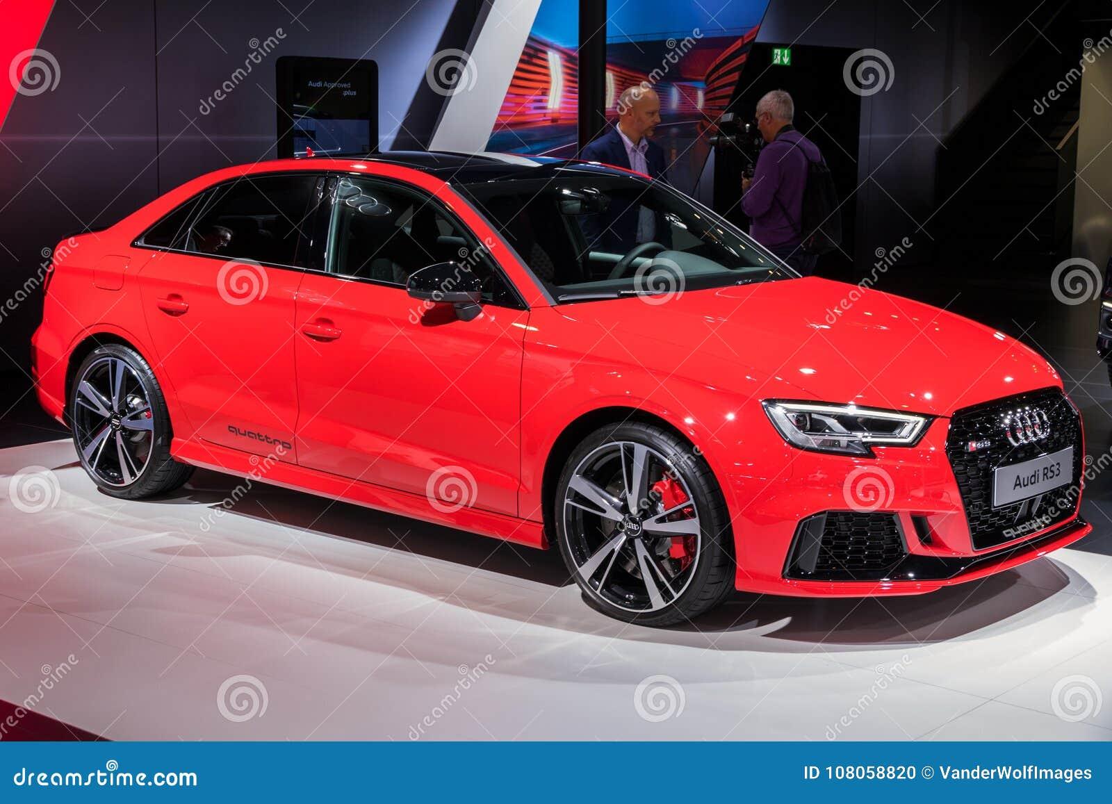 Automobile 2018 Della Berlina Di Audi Rs3 Immagine Editoriale