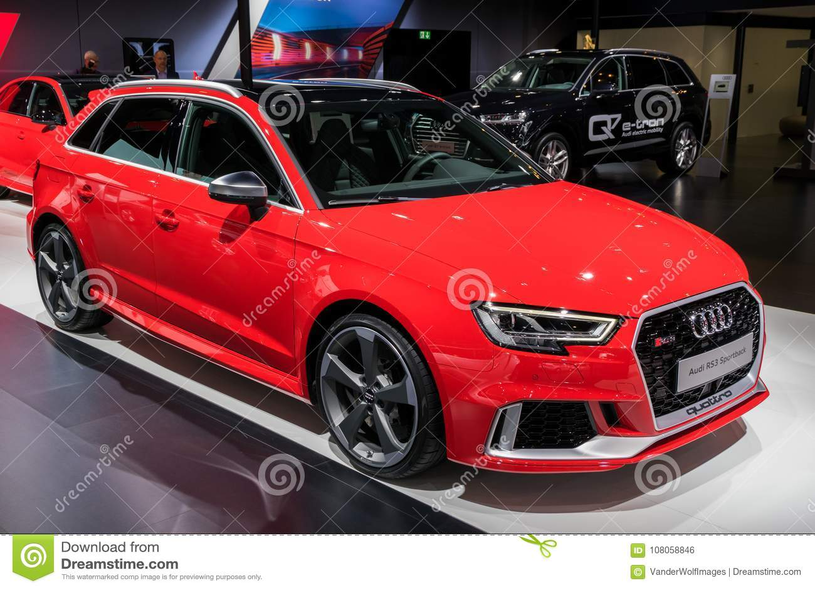 Automobile 2018 Di Audi Rs3 Sportback Fotografia Editoriale
