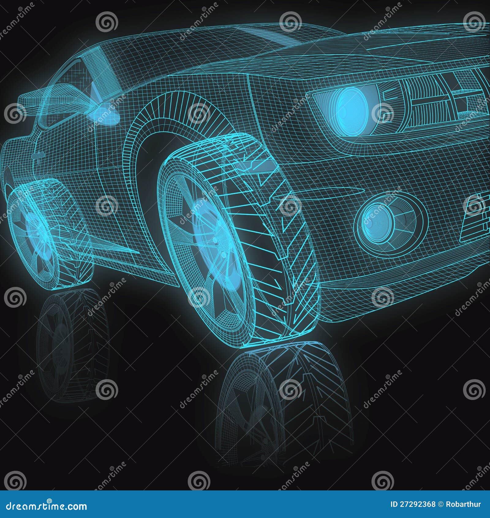 Automobile di modello 3D