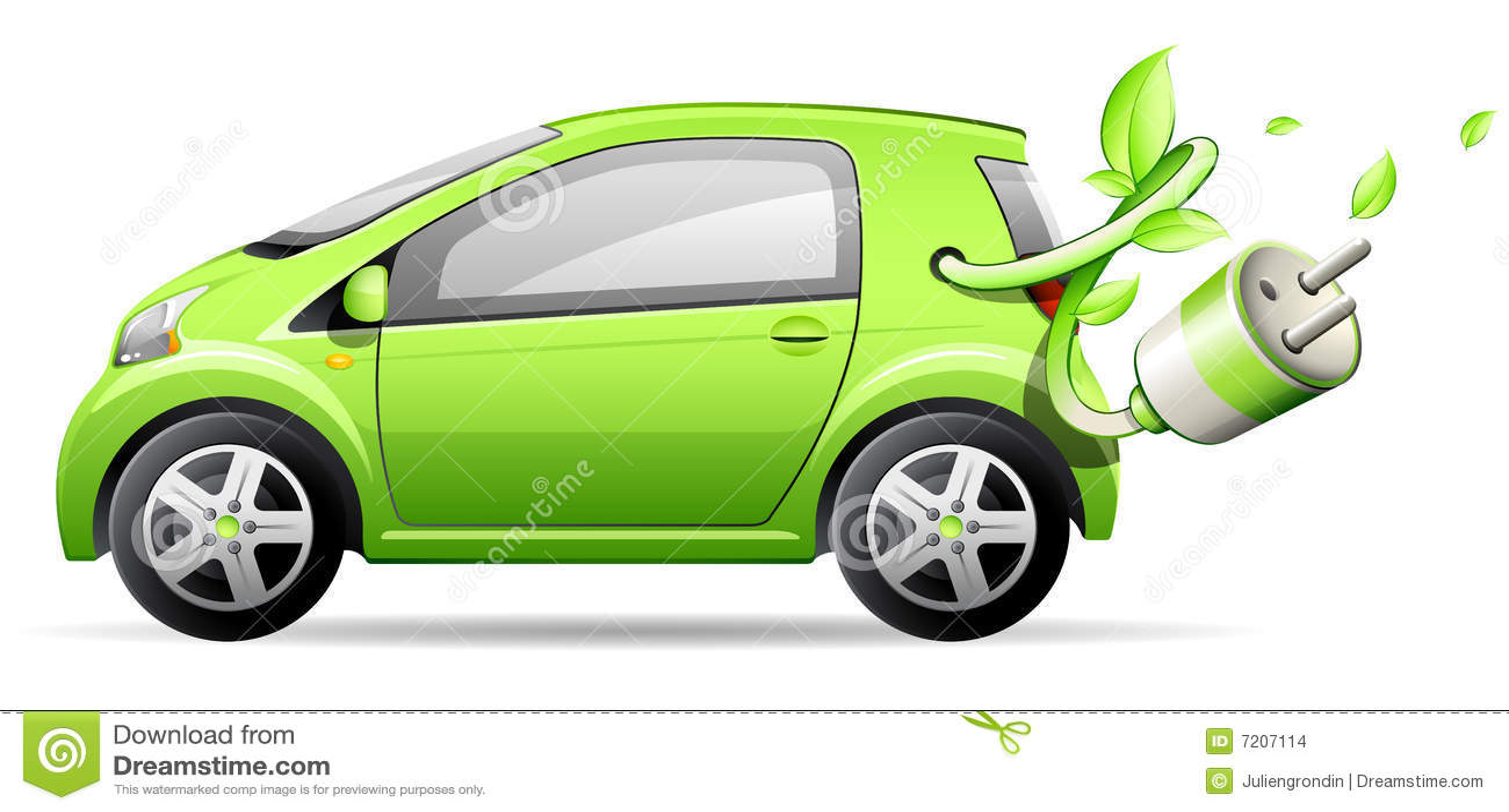 Automobile elettrica verde