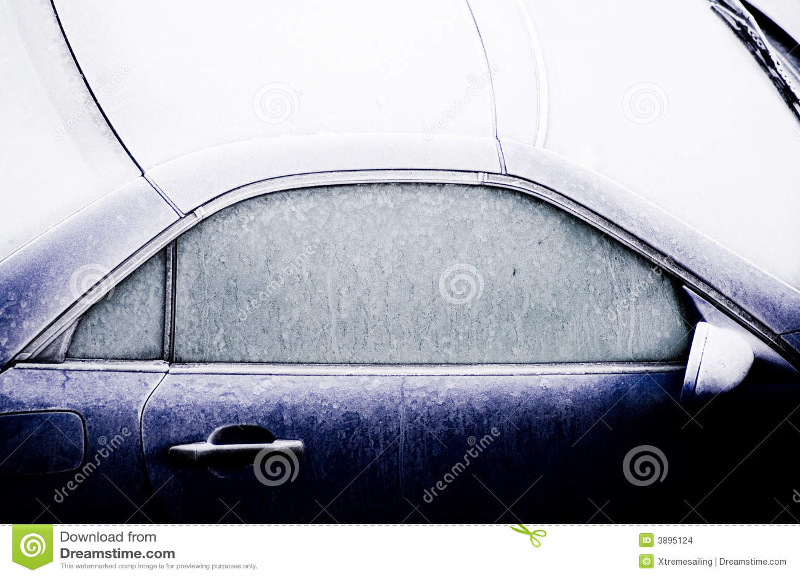 Automobile ghiacciata