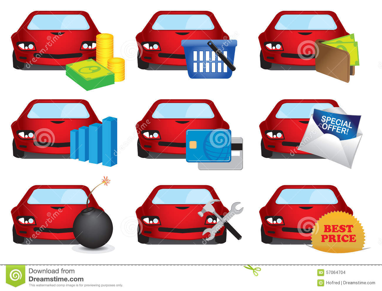 Automobile Industry Icons Set Stock Vector - Illustration ...