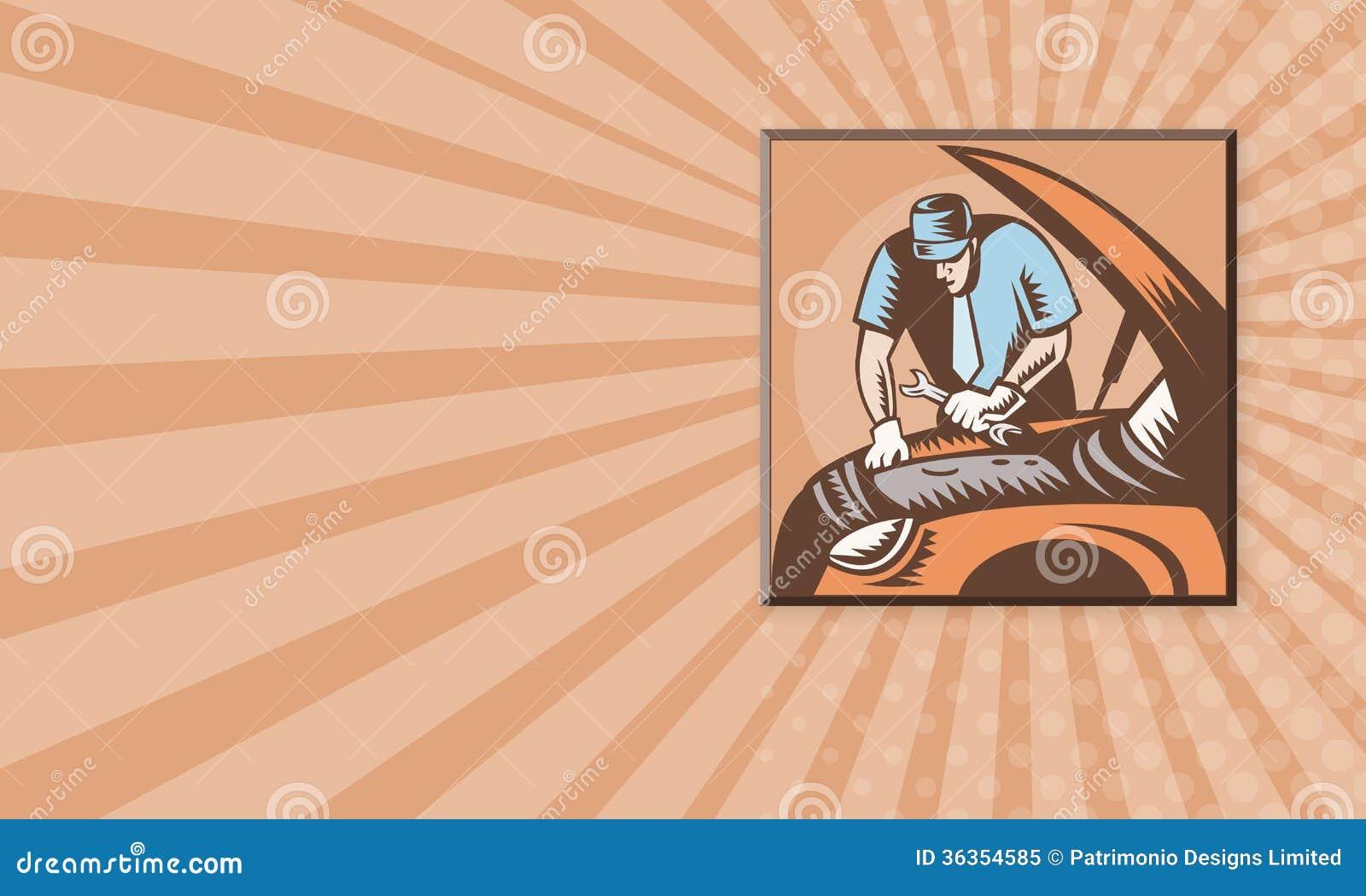 Automobile Mechanic Car Repair Stock Illustration - Image: 36354585