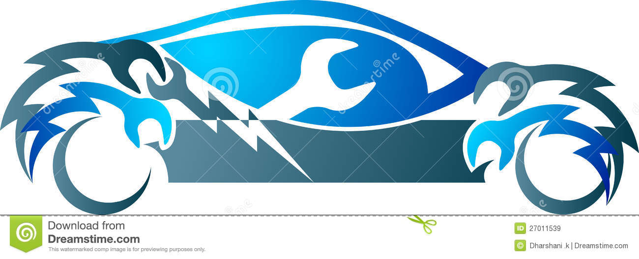 Automobile Mechanic Logo Stock Vector Image Of Blue