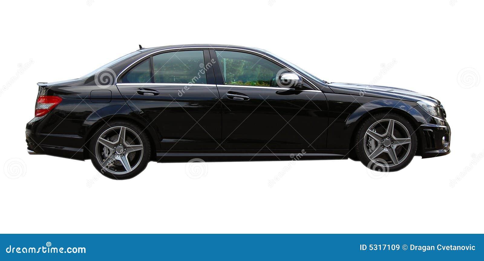 Download Automobile nera AMG immagine stock. Immagine di nero, isolato - 5317109