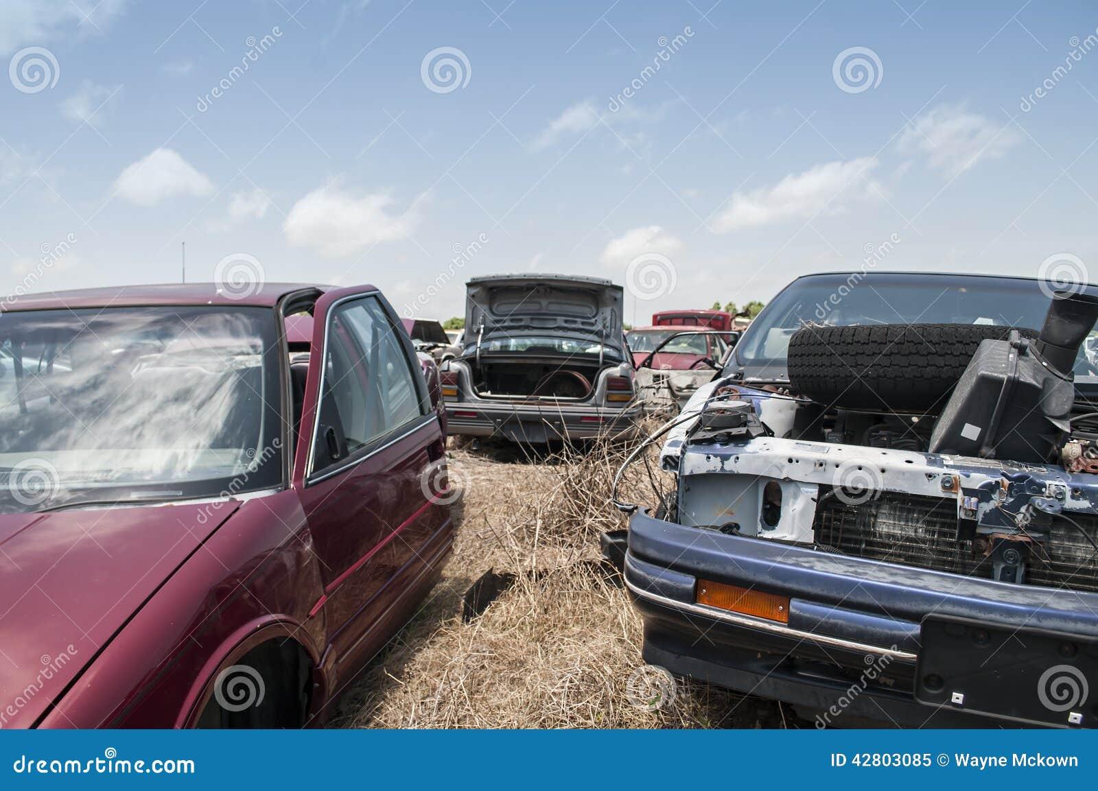 Automobile salvage yard