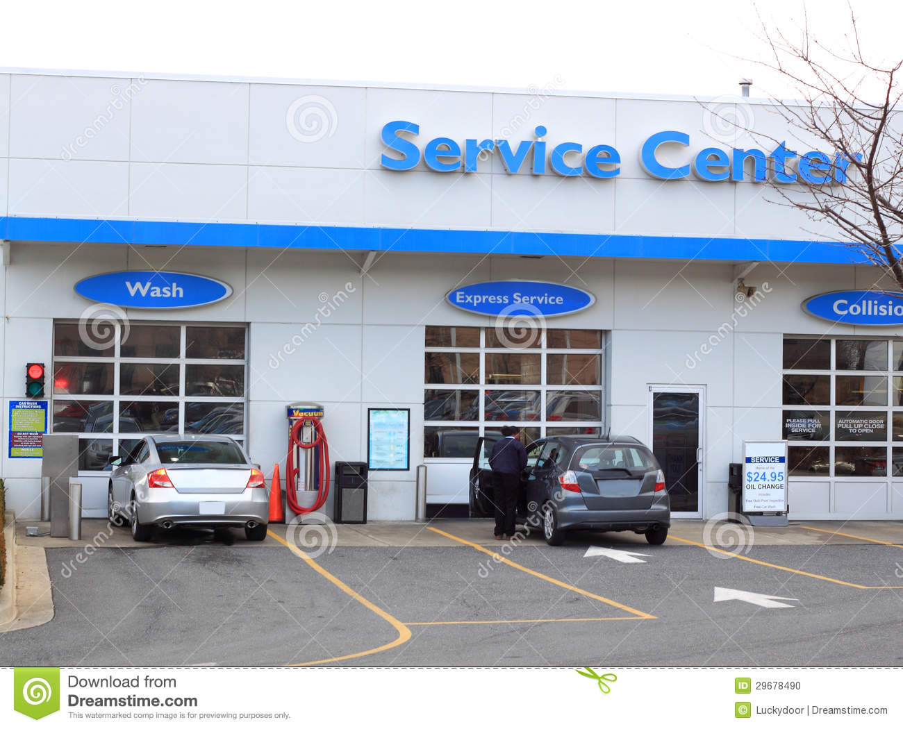 Ford Dealership San Diego >> Car Service Center stock photo. Image of automobile ...