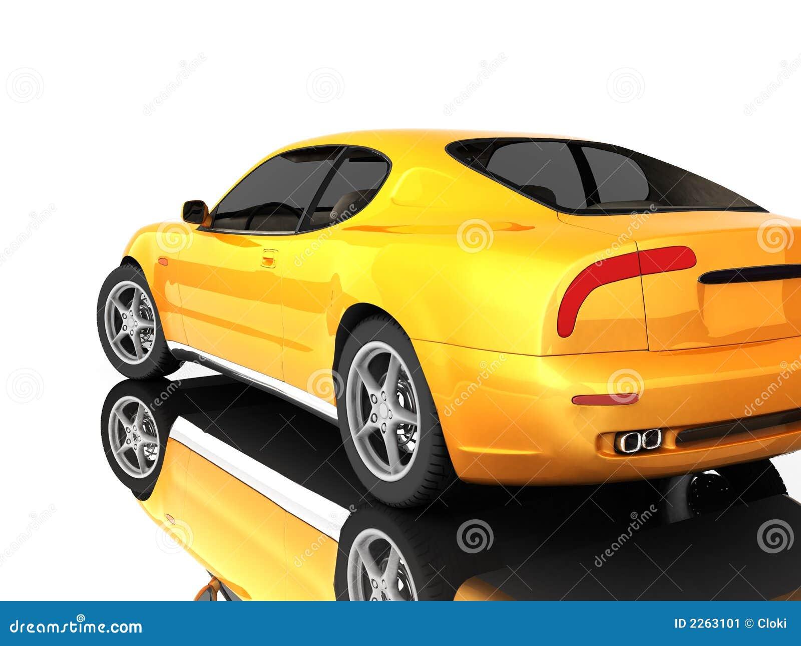 Automobile sportiva su bianco