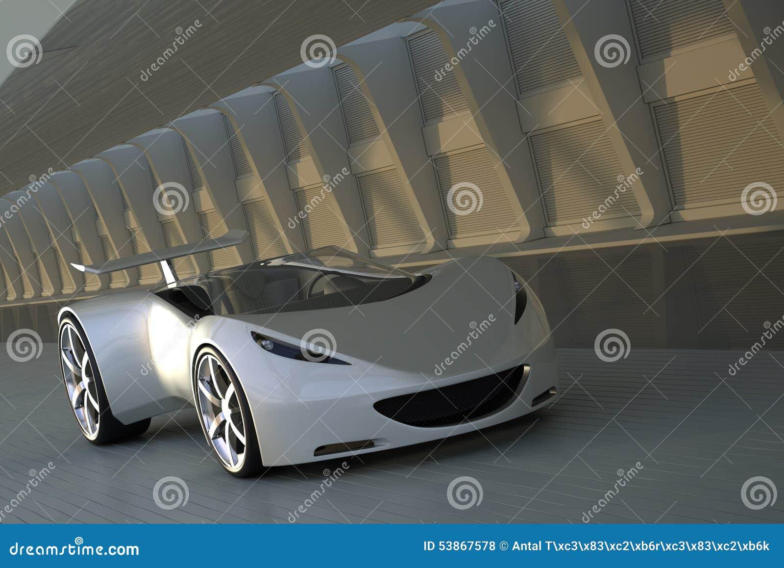 Automobile sportiva in tunnel