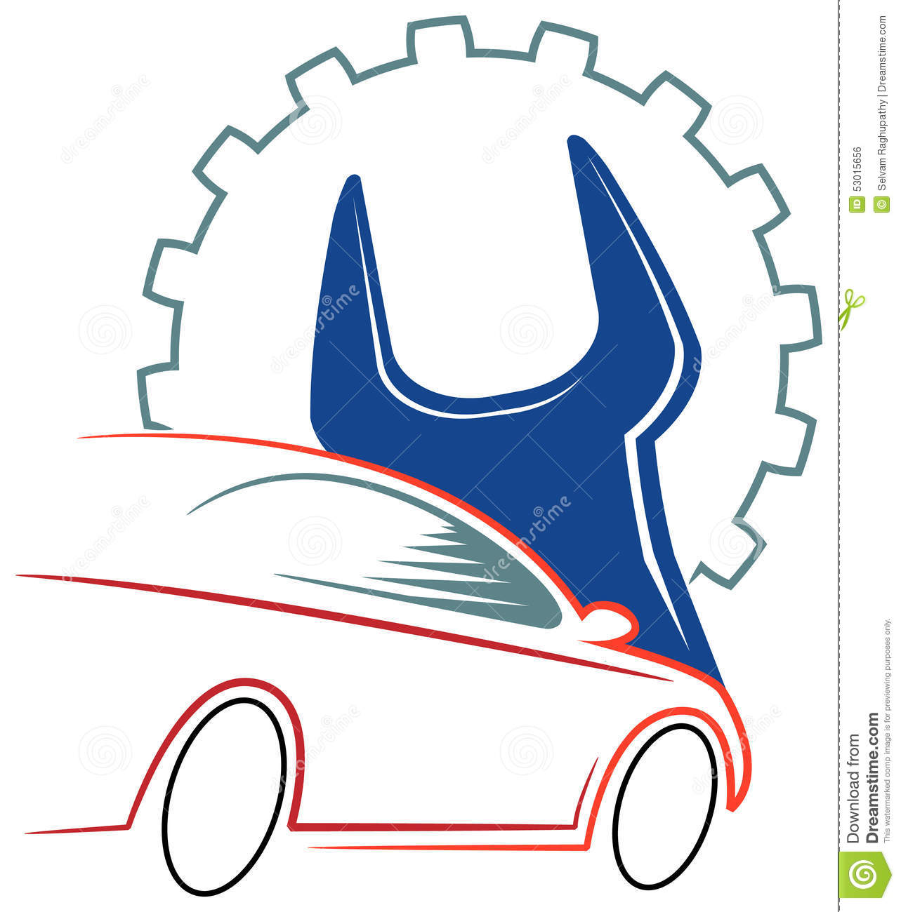 Automobile Workshop Logo Stock Vector - Image: 53015656