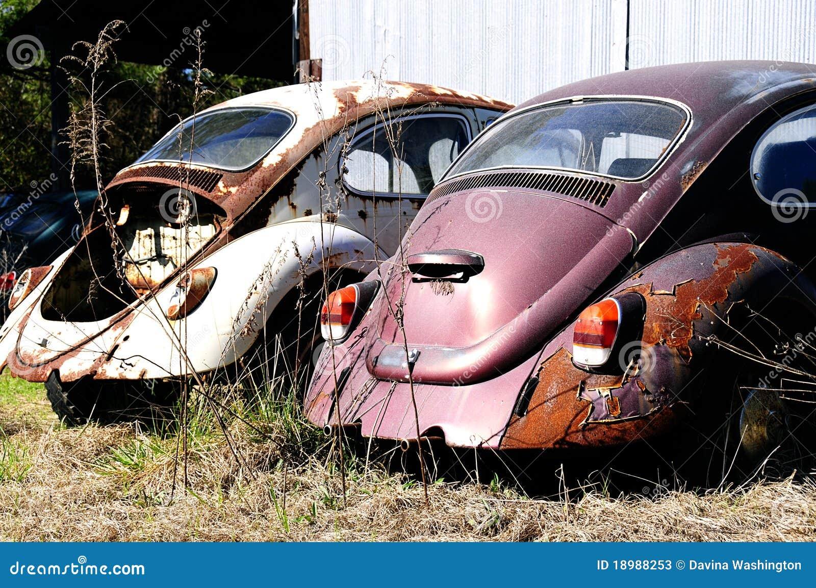 Automobili dello scarabeo di Volkswagen della roba di rifiuto