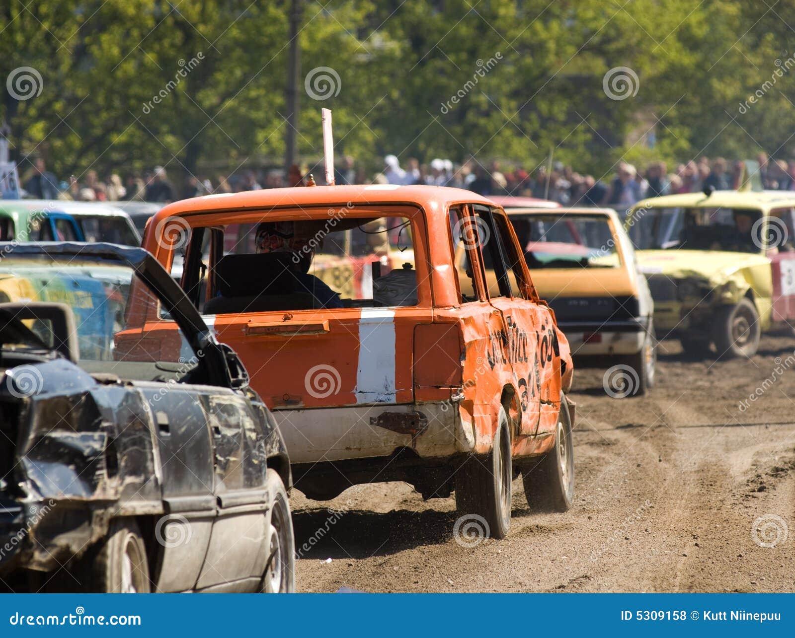 Download Automobili Nella Demolizione Derby Fotografia Stock - Immagine di arresto, distruzione: 5309158