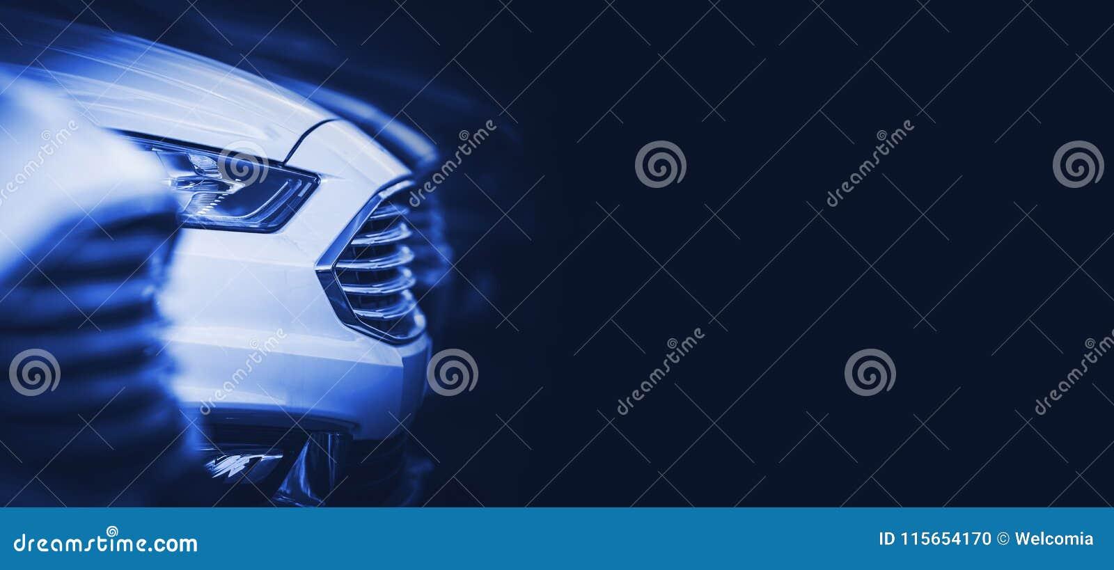 Automobilowy Błękitny sztandar