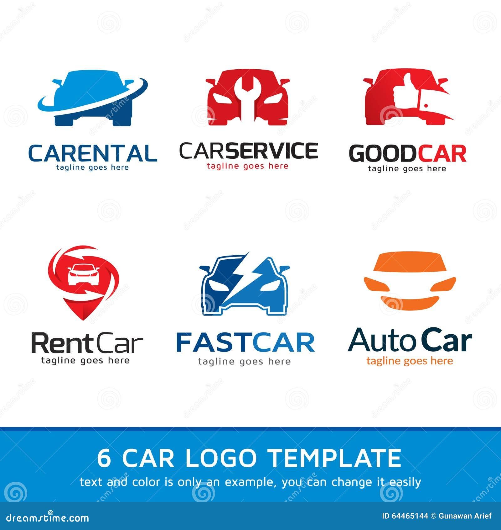 Automotive Car Logo Template Design Stock Vector Image