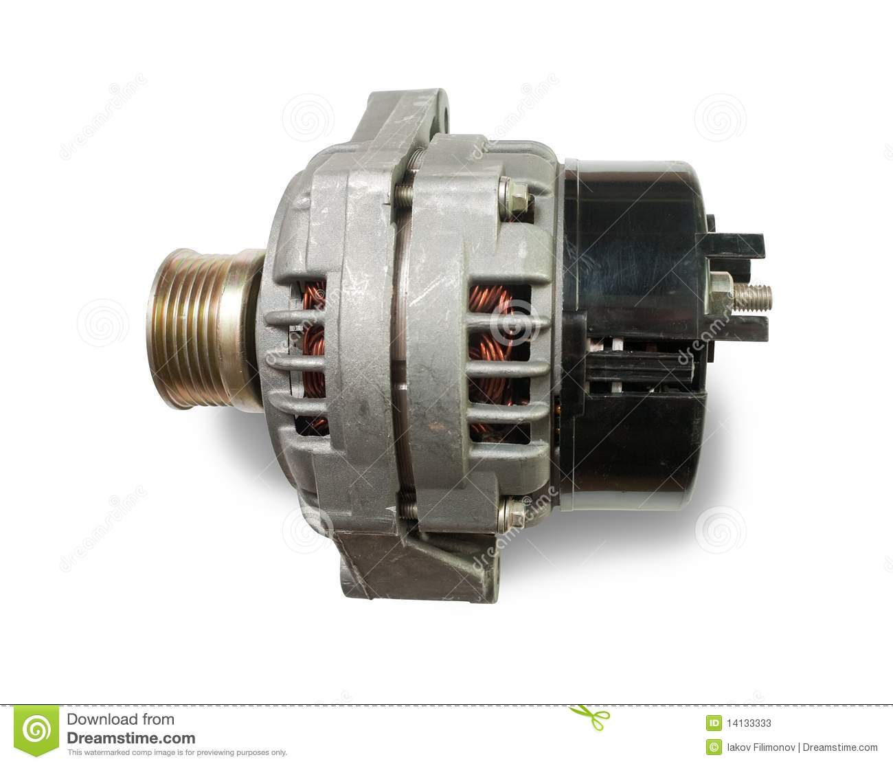 Automotive Power Generating Alternator Stock Image