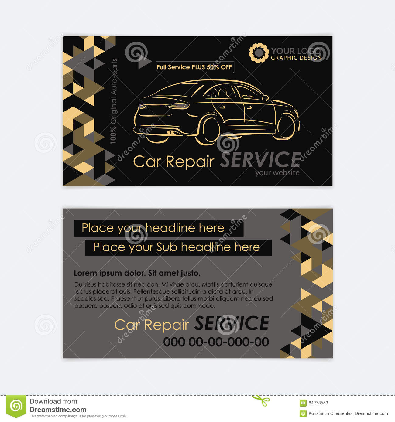 Automotive service business card template car diagnostics and automotive service business card template car diagnostics and transport repair create your own business cards wajeb Choice Image