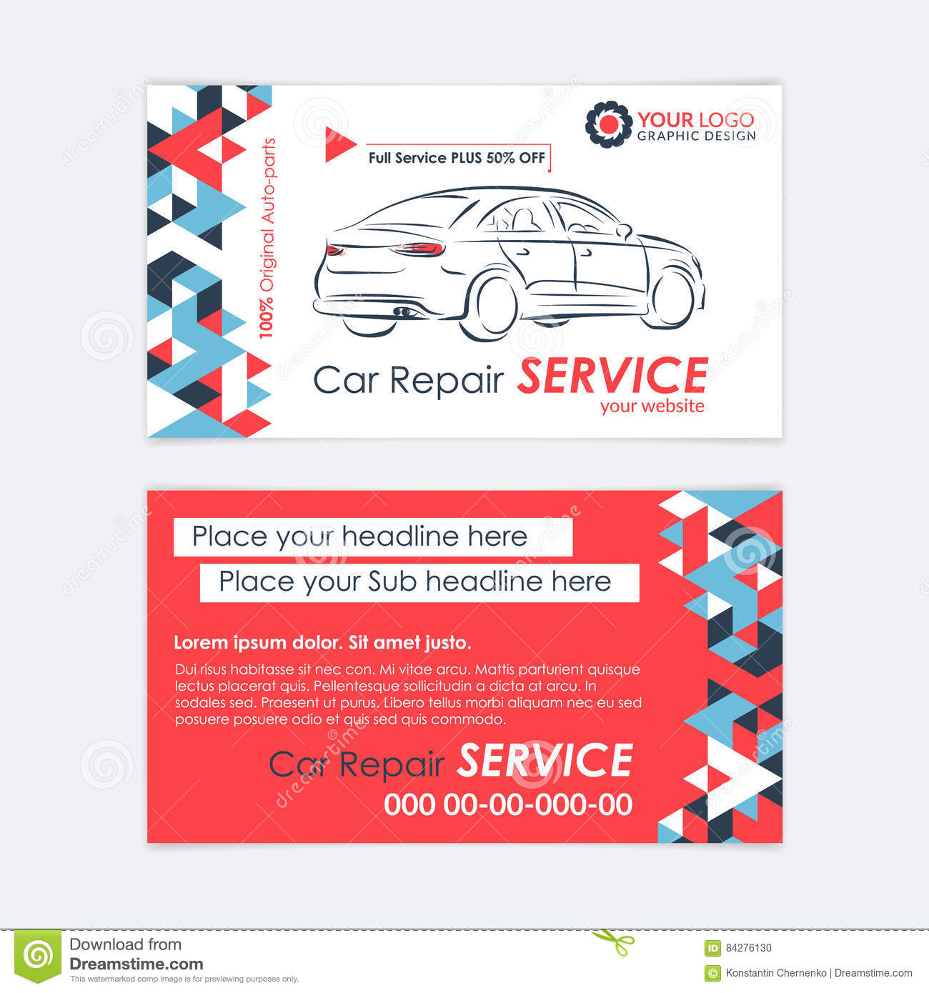 Automotive service business card template car diagnostics and royalty free vector download automotive service business card template car diagnostics and transport repair wajeb Images