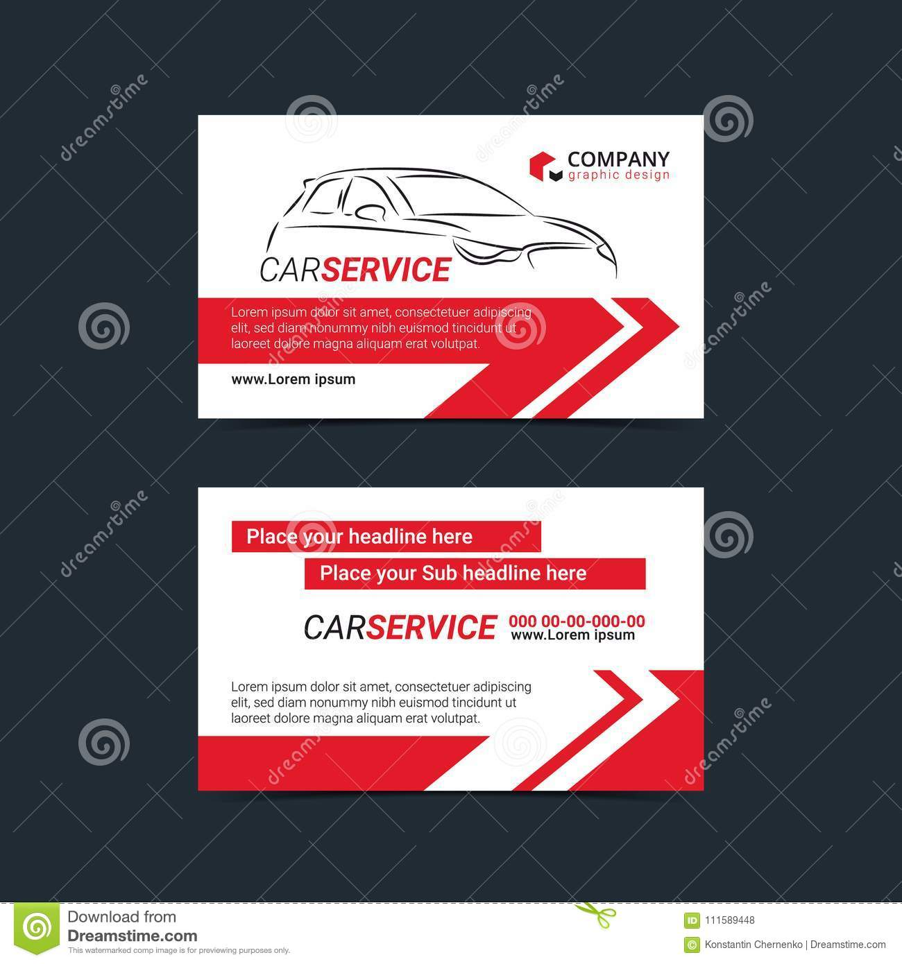 Automotive service business cards layout templates create your own create your own business cards stock vector download comp reheart Choice Image