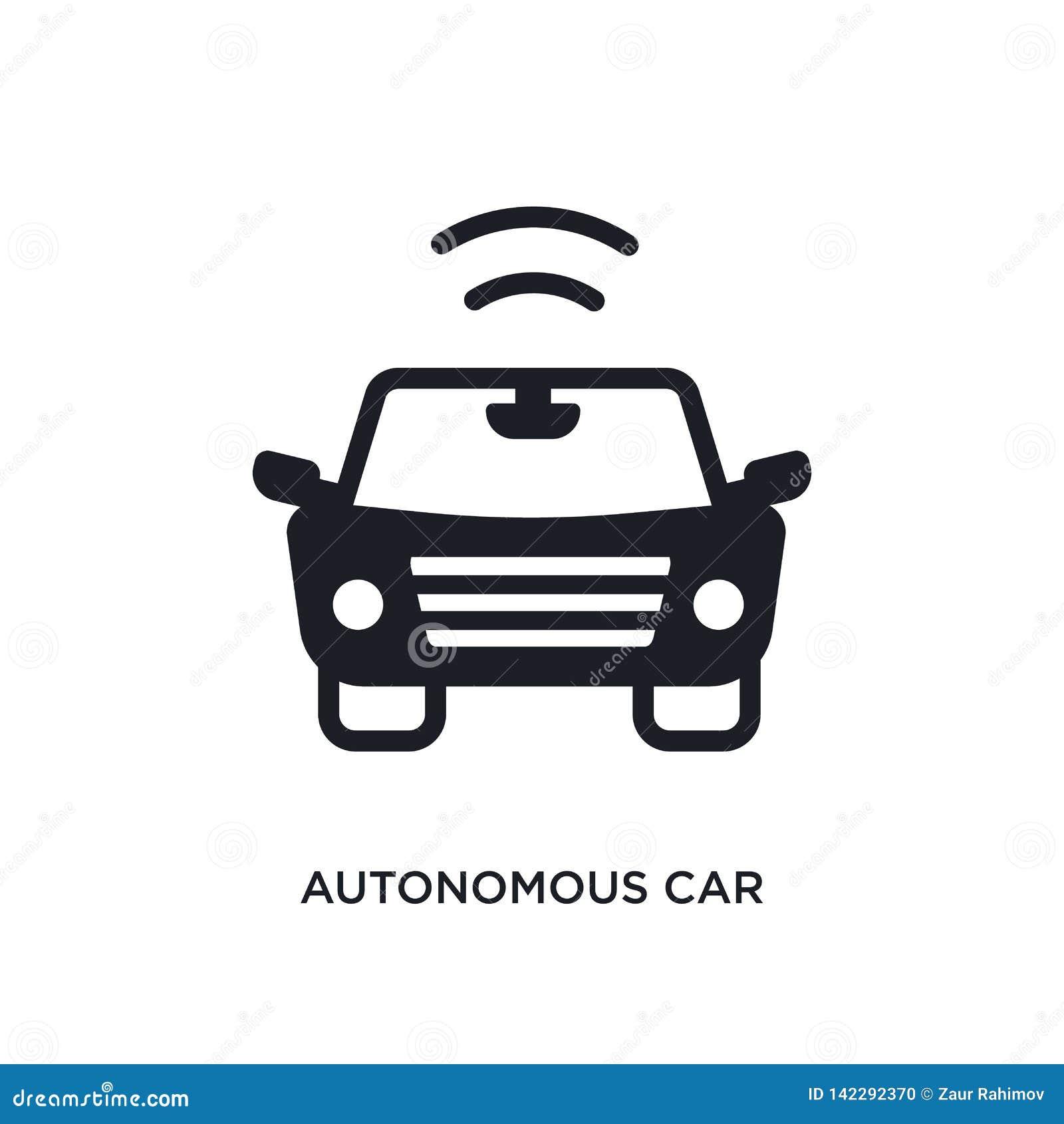 Autonom bil isolerad symbol enkel beståndsdelillustration från smarta husbegreppssymboler för logotecken för autonom bil redigerb