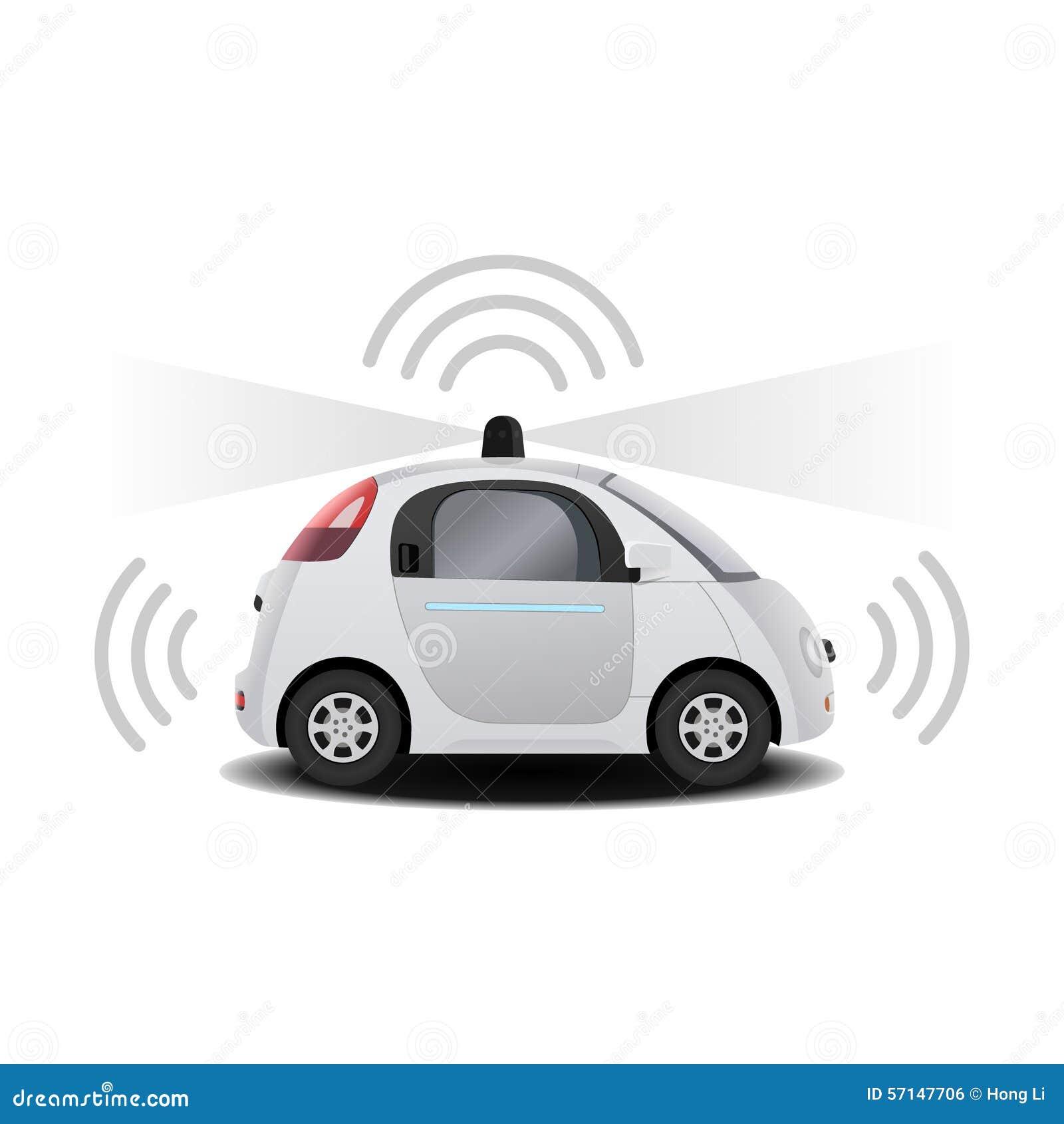 Autonomes selbst-treibendes (Antrieb) driverless Fahrzeug mit Radar 3D übertragen