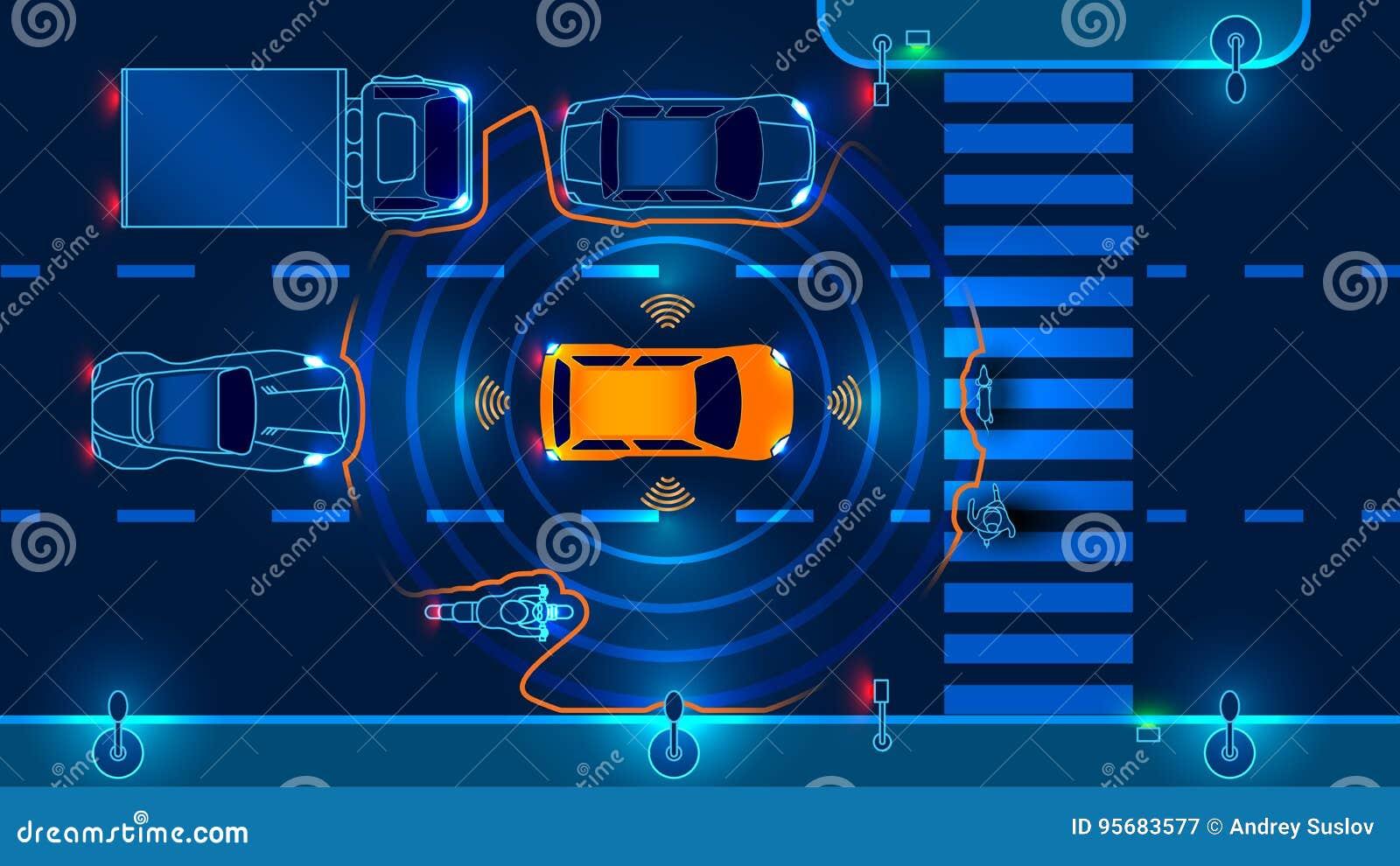 Autonomiczny mądrze samochód